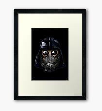 Gas Mask Japanese Shogun Style Framed Print