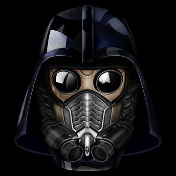Máscara de gas estilo japonés Shogun de GalihArt