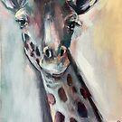 Painted Giraffe by Julie Mayo