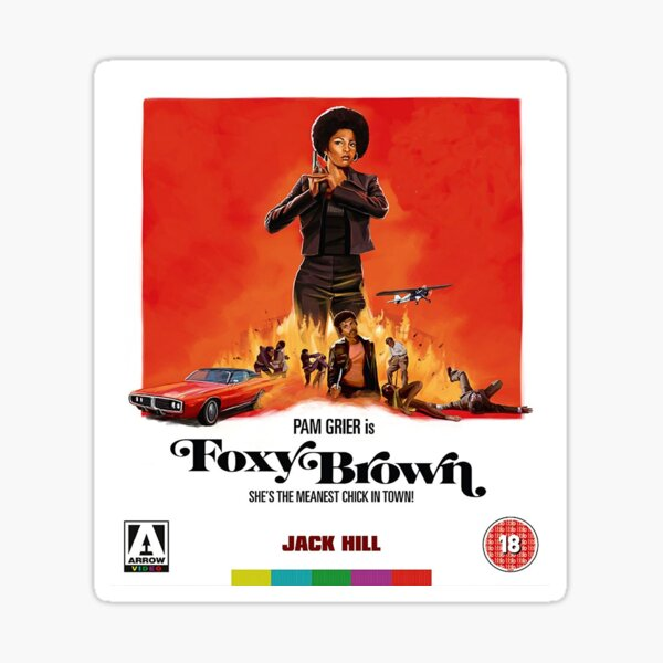 Foxy Brown - Arrow Video Sticker