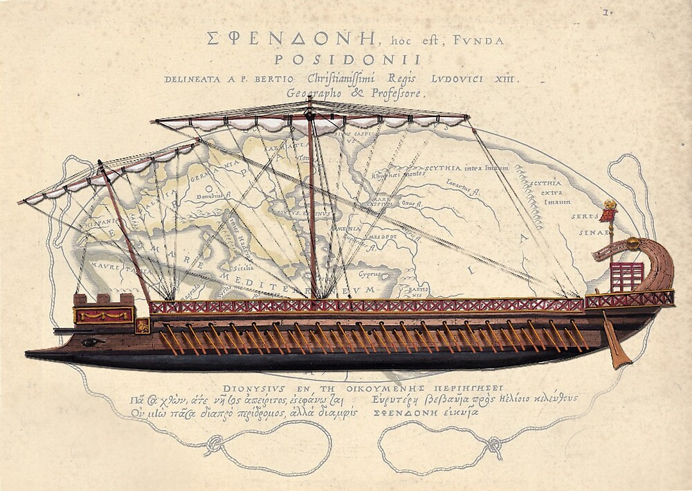 Postcard - Roman Bireme by TheCollectioner