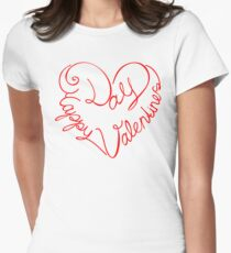 Happy Valentine's Day Women's Fitted T-Shirt