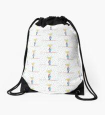 Raining girl Drawstring Bag