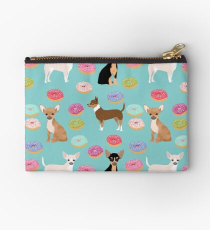 Chihuahua donuts dessert dog breed gifts for dog person chiwawa lovers Zipper Pouch