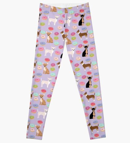 Chihuahua donuts dessert dog breed gifts for dog person chiwawa lovers Leggings