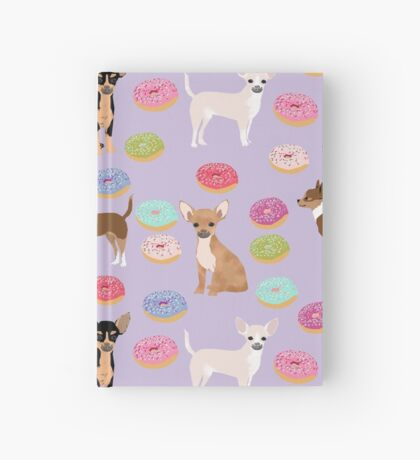 Chihuahua donuts dessert dog breed gifts for dog person chiwawa lovers Hardcover Journal