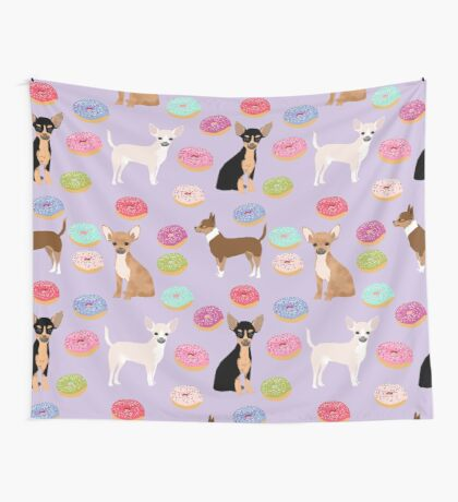 Chihuahua donuts dessert dog breed gifts for dog person chiwawa lovers Wall Tapestry