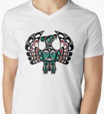 Northwest Pacific coast Haida art Thunderbird Men's V-Neck T-Shirt
