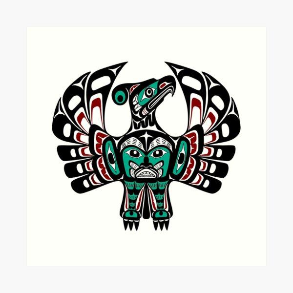 Northwest Pacific coast Haida art Thunderbird Art Print