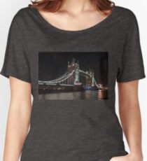 Tower Bridge at Night in London Women's Relaxed Fit T-Shirt