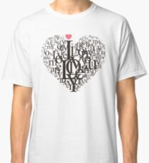 Heart Shape from Letters Classic T-Shirt