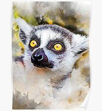 Lemur #lemur #animals Poster