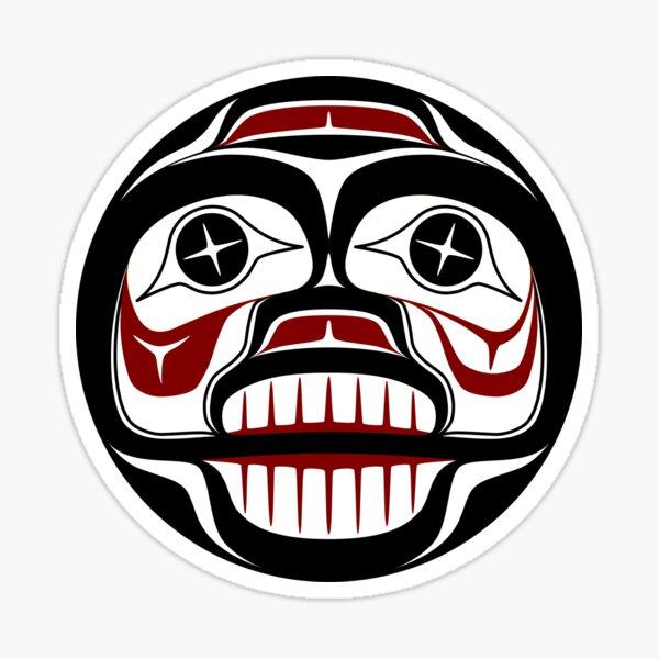 Northwest Pacific coast Haida Weeping skull Sticker