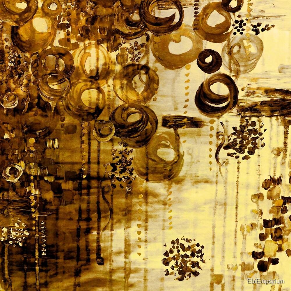 BUBBLEGUM DREAMS - SEPIA TONE Elegant Fine Art Abstract Acrylic ...