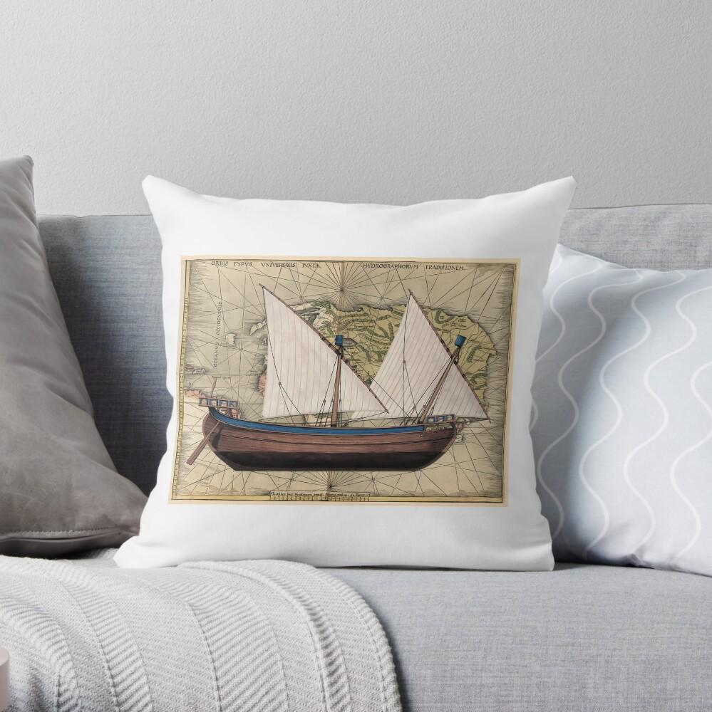 Potscard - Trade Nava Throw Pillow