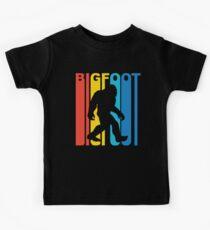 Vintage Retro 1970's Style Bigfoot Silhouette Kids Tee