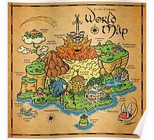 World map by meleeninja redbubble poster gumiabroncs Gallery
