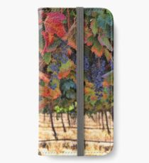 Wine Country Fall Colors Harvest Vineyard Grapes and Vines iPhone Wallet/Case/Skin