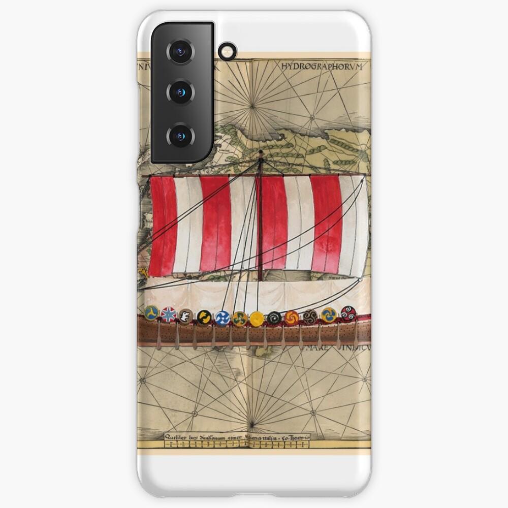 Postcard - Drakkar Case & Skin for Samsung Galaxy