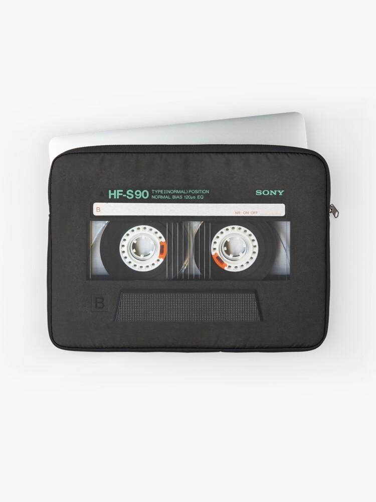 Retro Classic Vintage Gold Mix Cassette Tape by Digitalizedteam on Laptop Sleeve Laptop Sleeve
