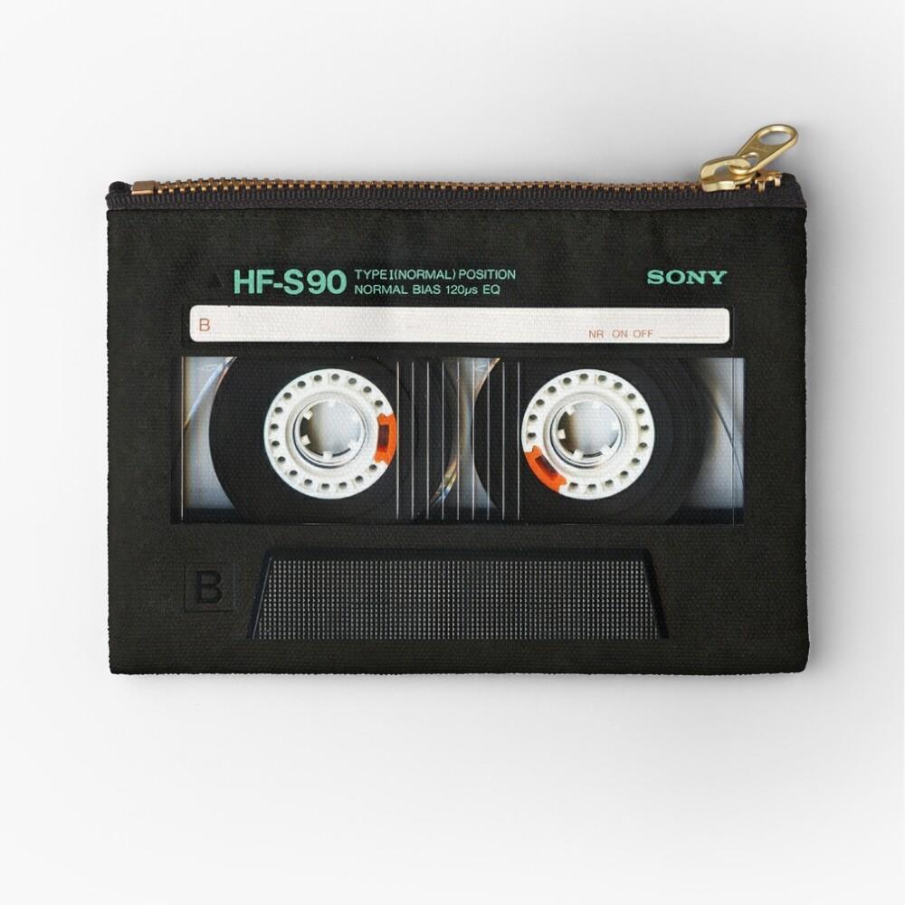 Classic retro Black cassette tape Zipper Pouch