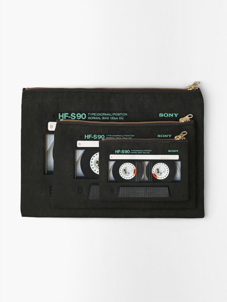 Alternate view of Classic retro Black cassette tape Zipper Pouch