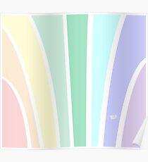 Kirovair Art Deco Pastel Rainbow #minimal #art #design #kirovair #buyart #decor #home Poster