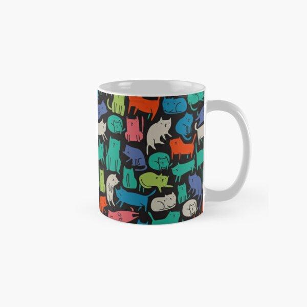 Cool Cats. Funny cute colorful pet design. Classic Mug