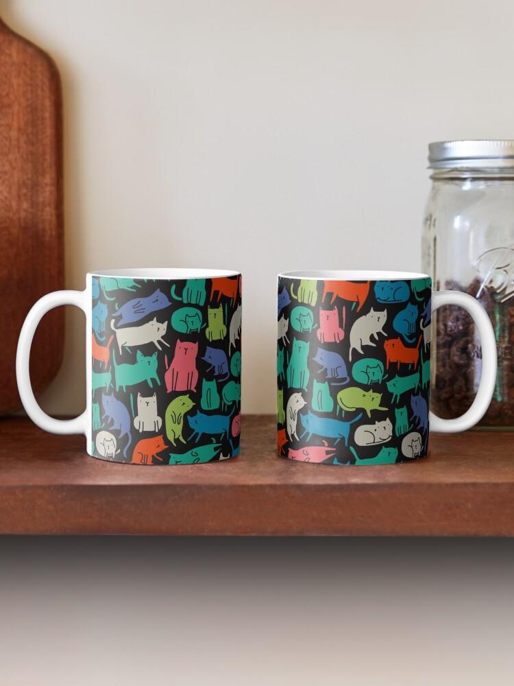 Alternate view of Cool Cats. Funny cute colorful pet design. Mug