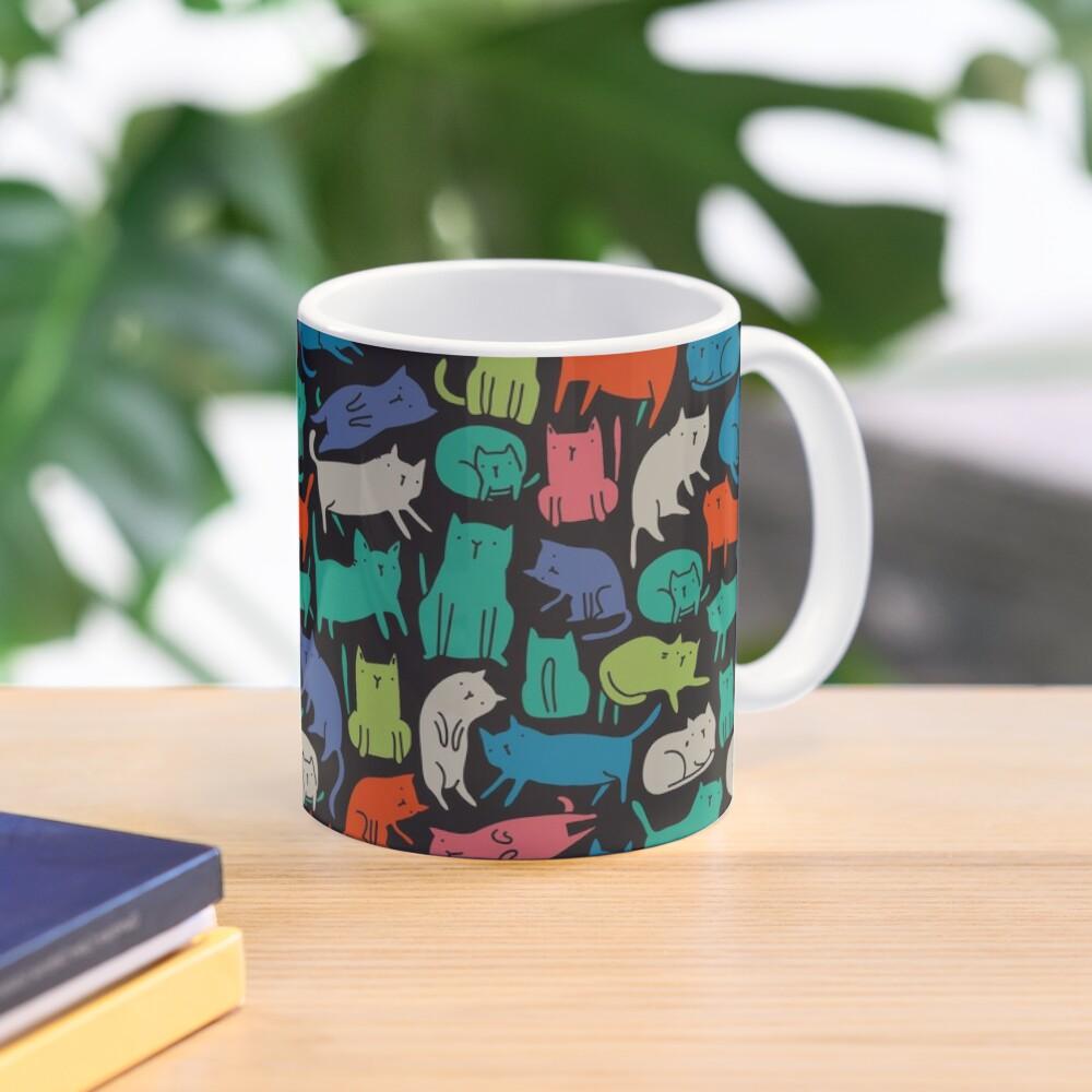 Cool Cats. Funny cute colorful pet design. Mug