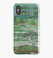 MONET, Claude, Artist, Art, Painter, Oil Painting, Canvas, The Japanese Footbridge, 1899 iPhone Case