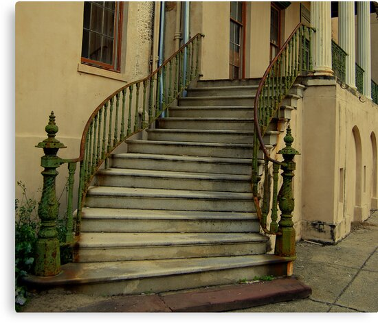 ol'Candler Hospital Stairs by Bob Moore