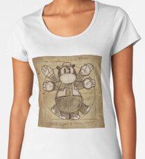 Horus Hippoptumus Amphibius Vitruvian Premium Scoop T-Shirt