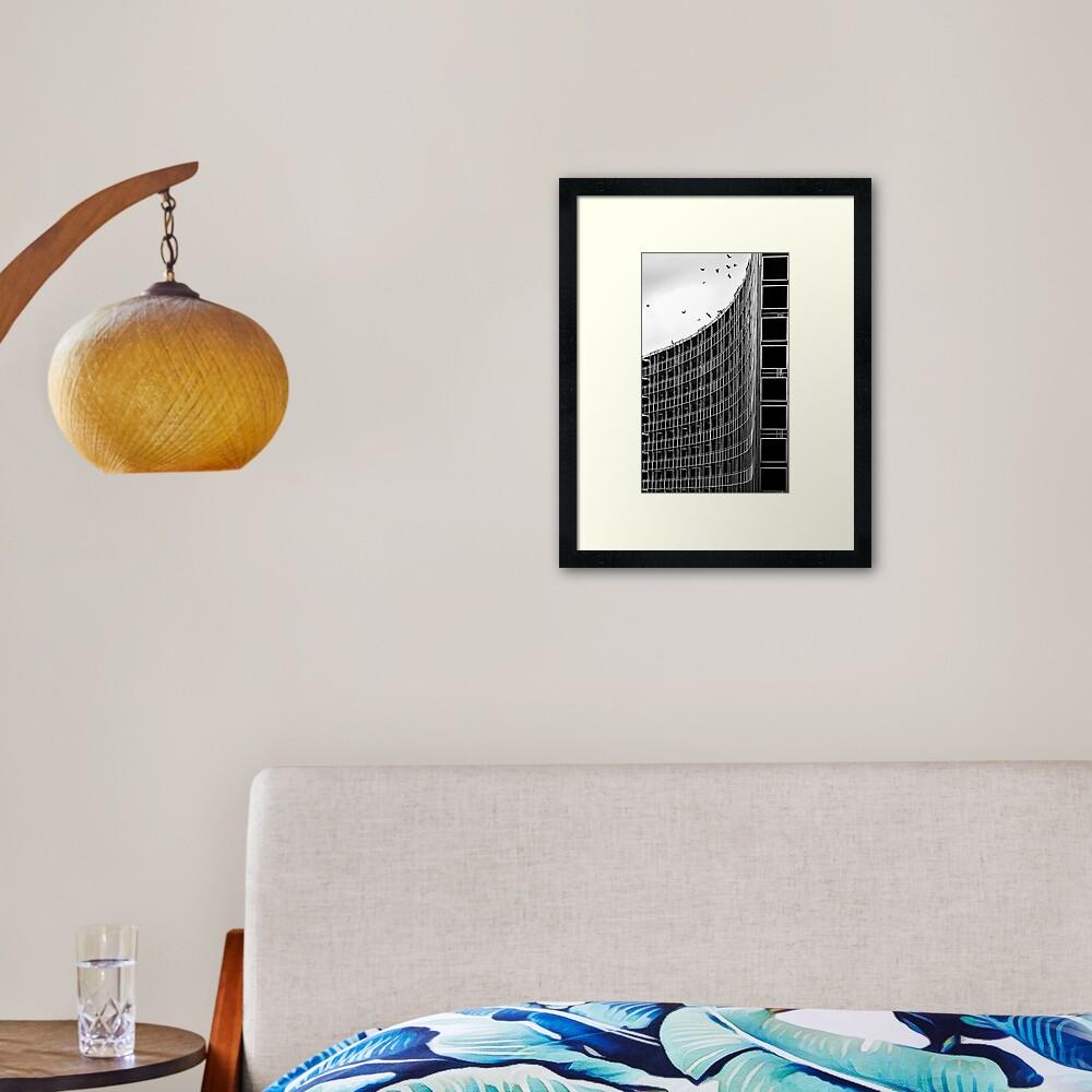 The Last to Leave Framed Art Print