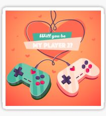 Will you be my player 2? Sticker