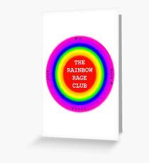 The Rainbow Rage Club Emblem (Design 2) Greeting Card