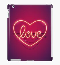 Love Heart Neon Sign iPad Case/Skin