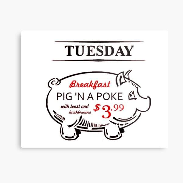 Pig n' a Poke Metal Print