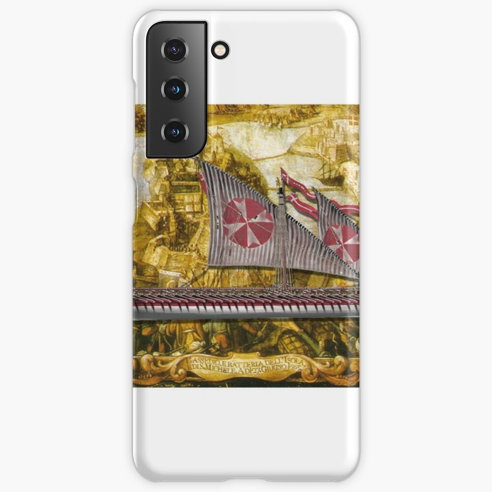 Postcard - Maltese Knights Galley Case & Skin for Samsung Galaxy
