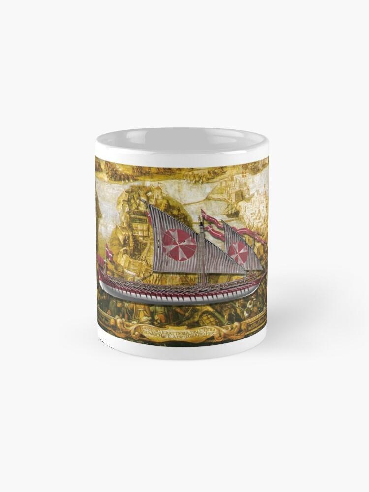 Alternate view of Postcard - Maltese Knights Galley Mug