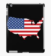 United States of America Black iPad Case/Skin