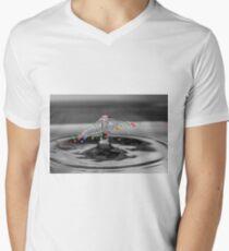 Colour Drops Men's V-Neck T-Shirt