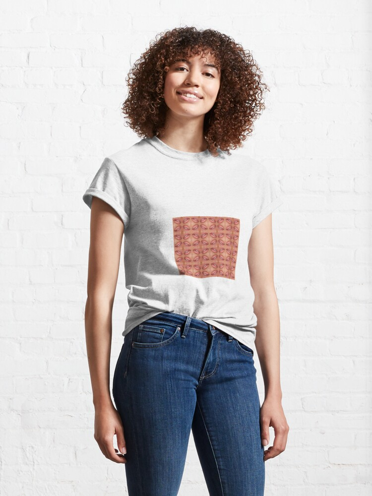 Alternate view of Symmetrical ornament, slightly opened lips Classic T-Shirt
