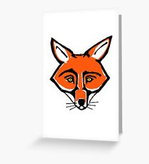 Sly Red Fox Greeting Card