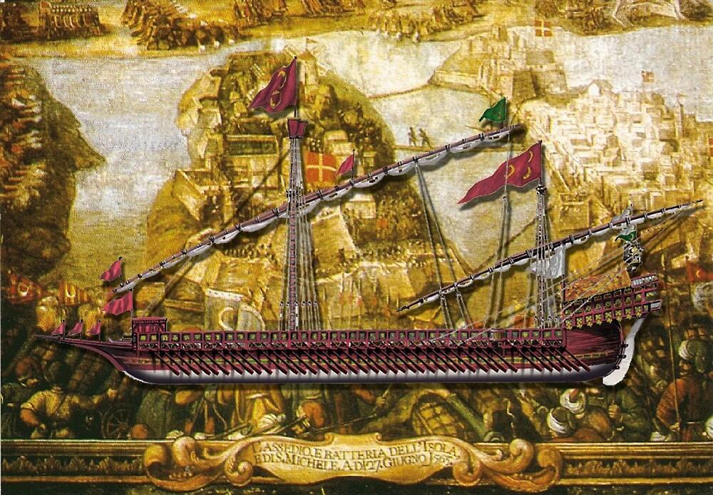 Ottoman admiral Galley