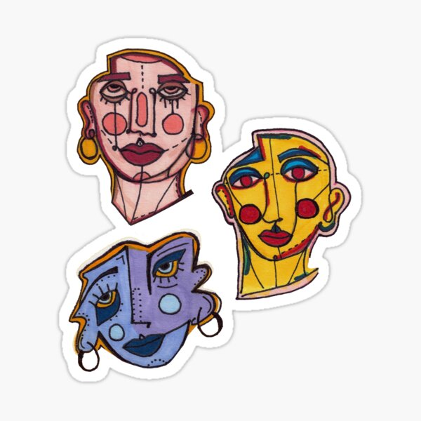 VISAGES Sticker