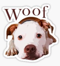 Woof - Terrier Sticker