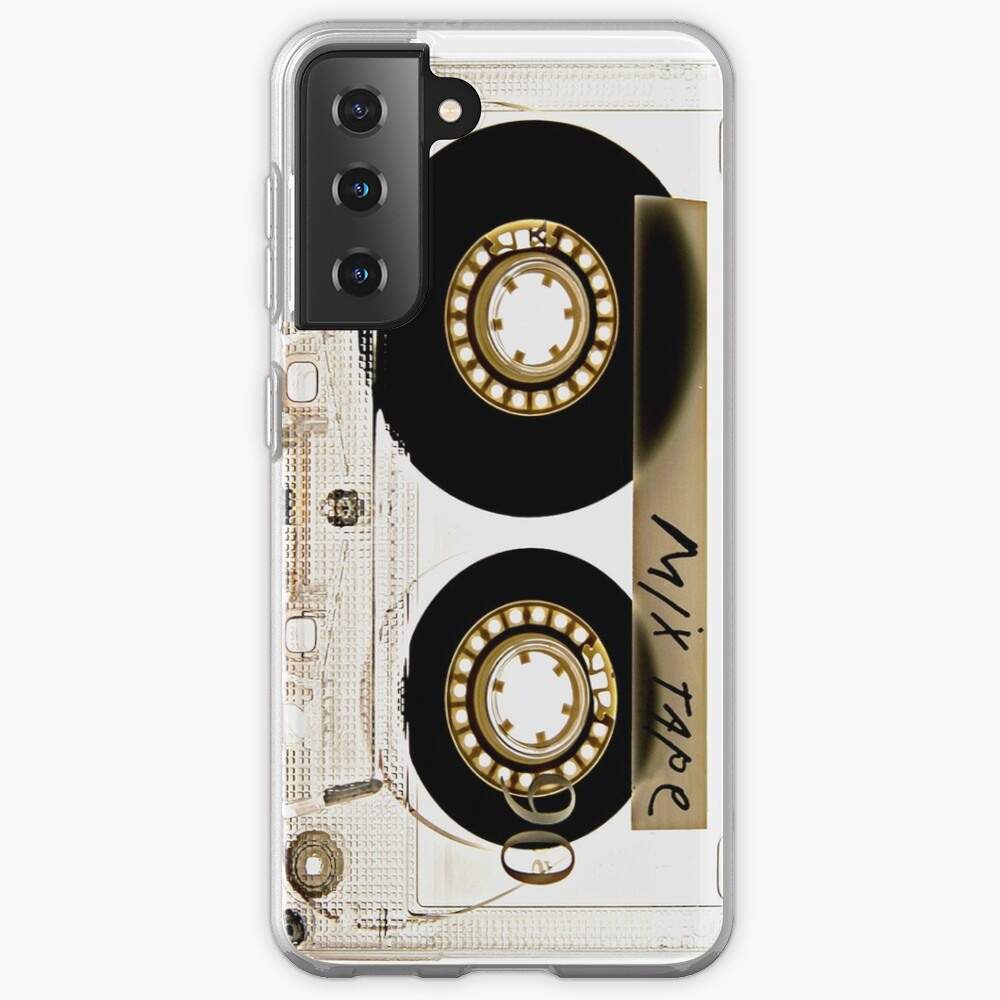 Transparent clear cassette tape Case & Skin for Samsung Galaxy