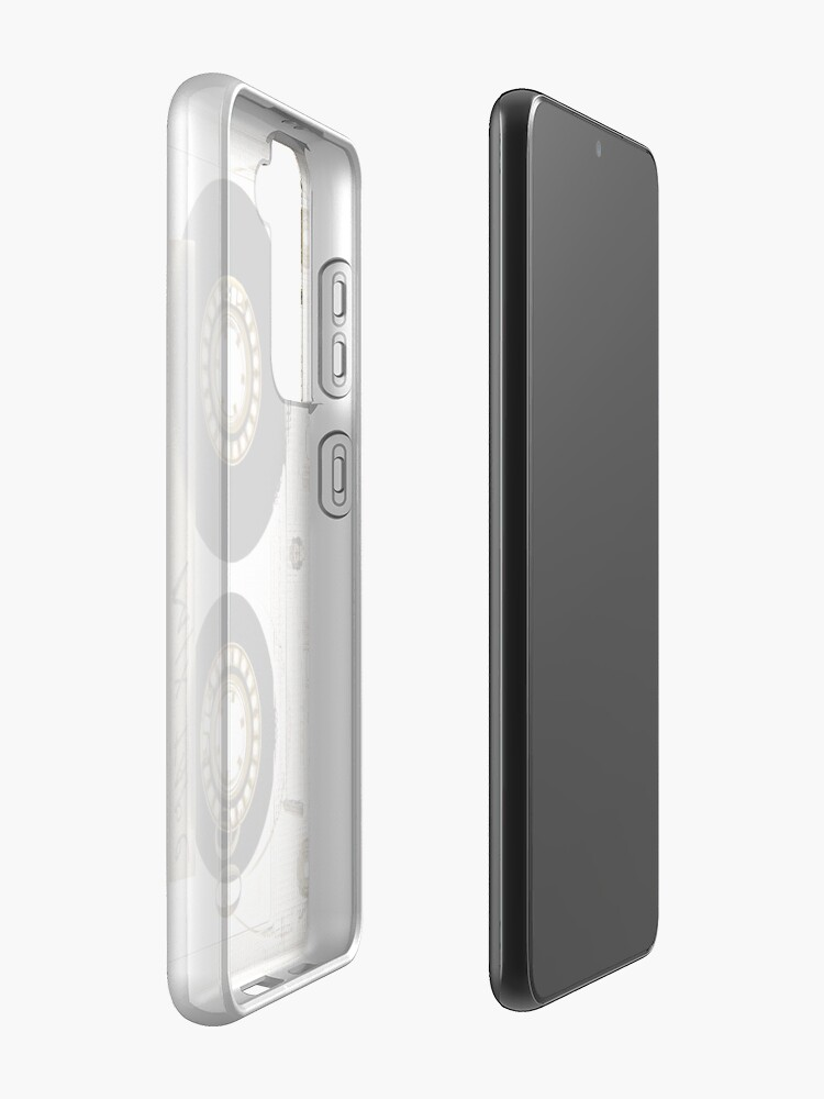Alternate view of Transparent clear cassette tape Case & Skin for Samsung Galaxy