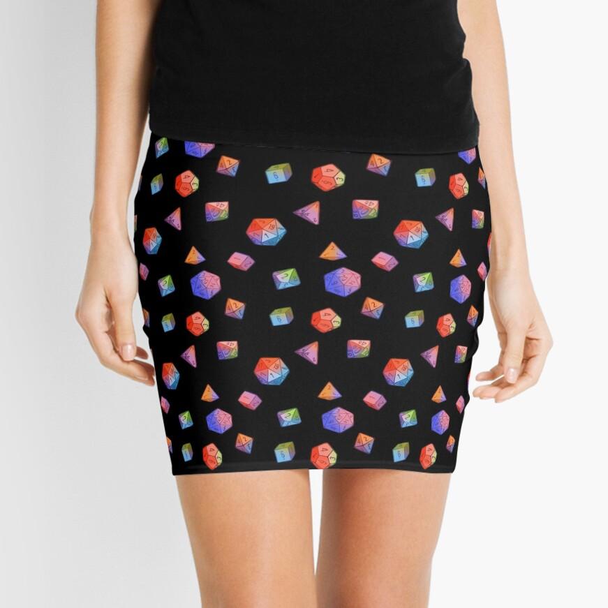 Rainbow Dice Mini Skirt